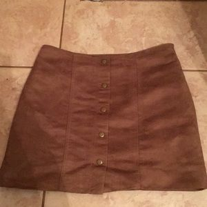 Tan A-Lin skirt from the Gap